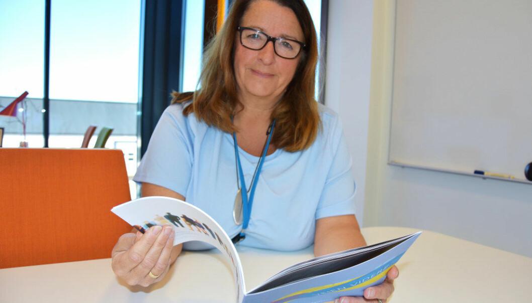 Rektor Marit Rovik Bjerkestrand leder en stor bedrift. Det handler om veien videre for alle ungdommene som går på skolen. Foto: Wenche Schjønberg