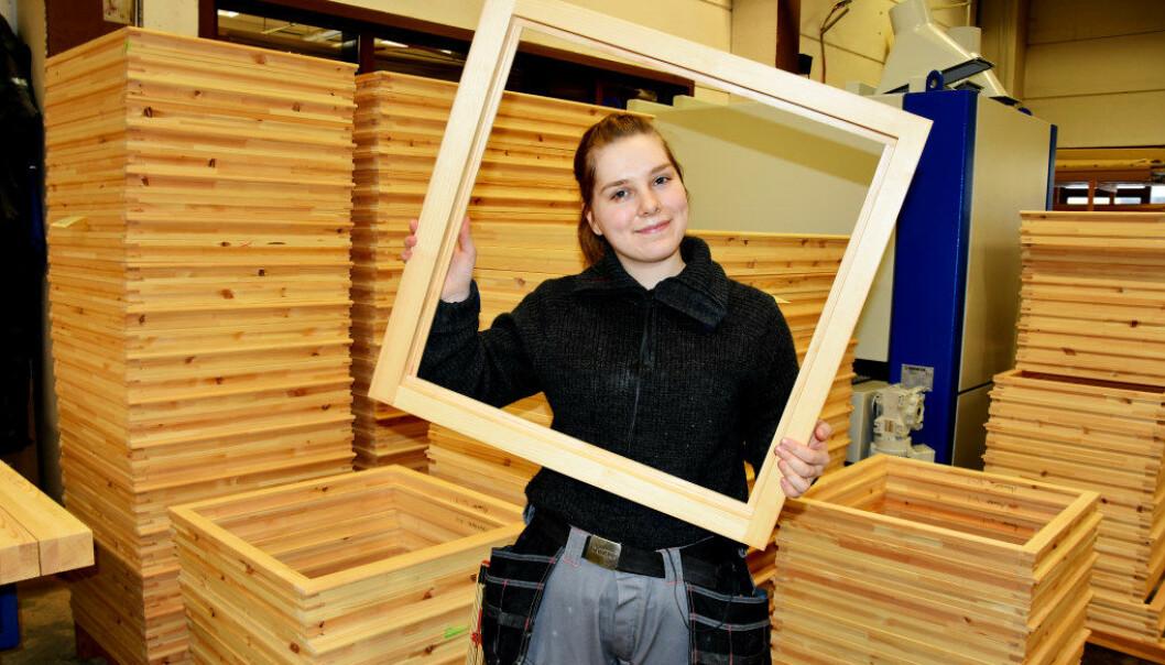 Ingrid Valsjøe Olafsen er en av få jenter som velger tradisjonelle guttefag på videregående. Foto: Wenche Shjønberg