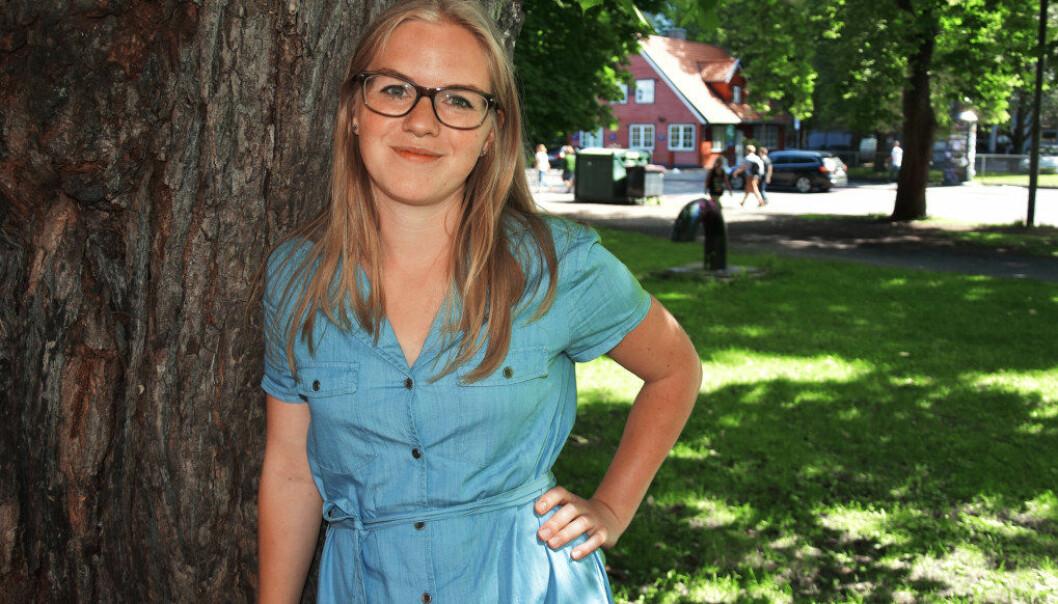 Silje Kjørholt, leder i Organisasjon for Norske Fagskolestudenter, vil ha en forpliktende plan for studieplasser i fagskolen. Foto: Wenche Schjønberg