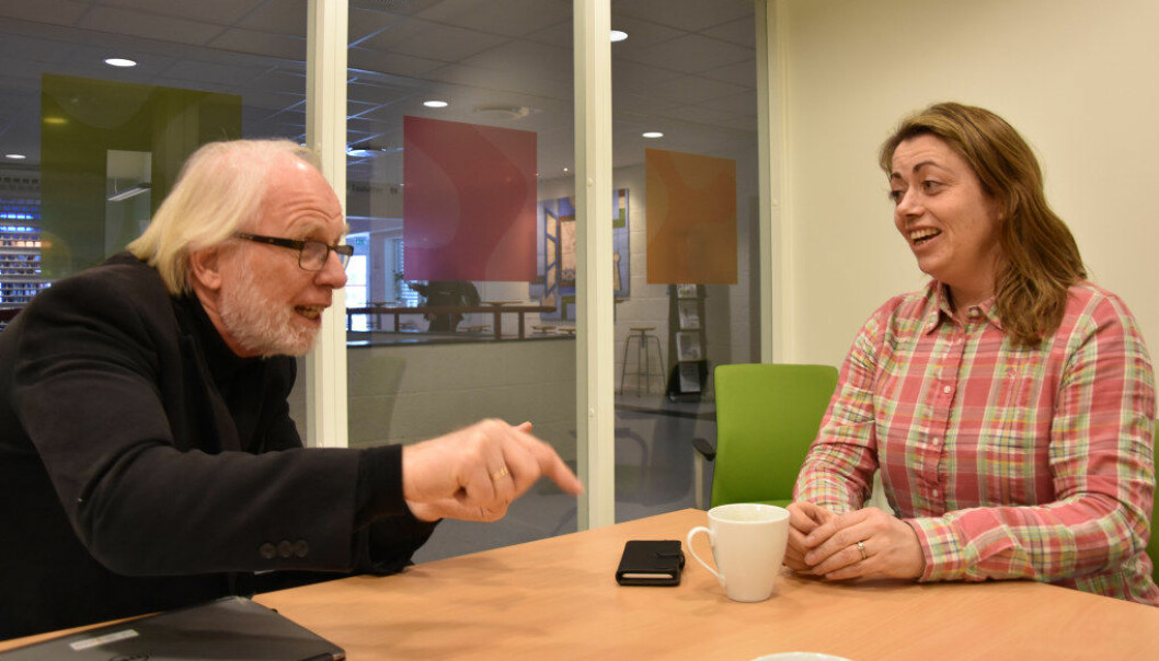 Engasjement preger informasjonskonsulent Thor Åge Bergan og rektor Kari Nordskogen når de kommenterer fagskolemeldingen. Foto: Wenche Schjønberg