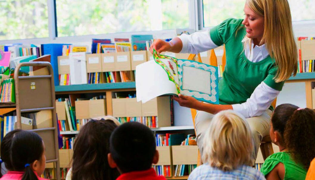Barnehage og skole må samordne sin pedagogikk slik at en allerede i barnehagene starter å arbeide bevisst med språklekene og at dette arbeidet blir videreført i  skolen, skriver Gro Høghaug. Foto: Thinckstockphoto