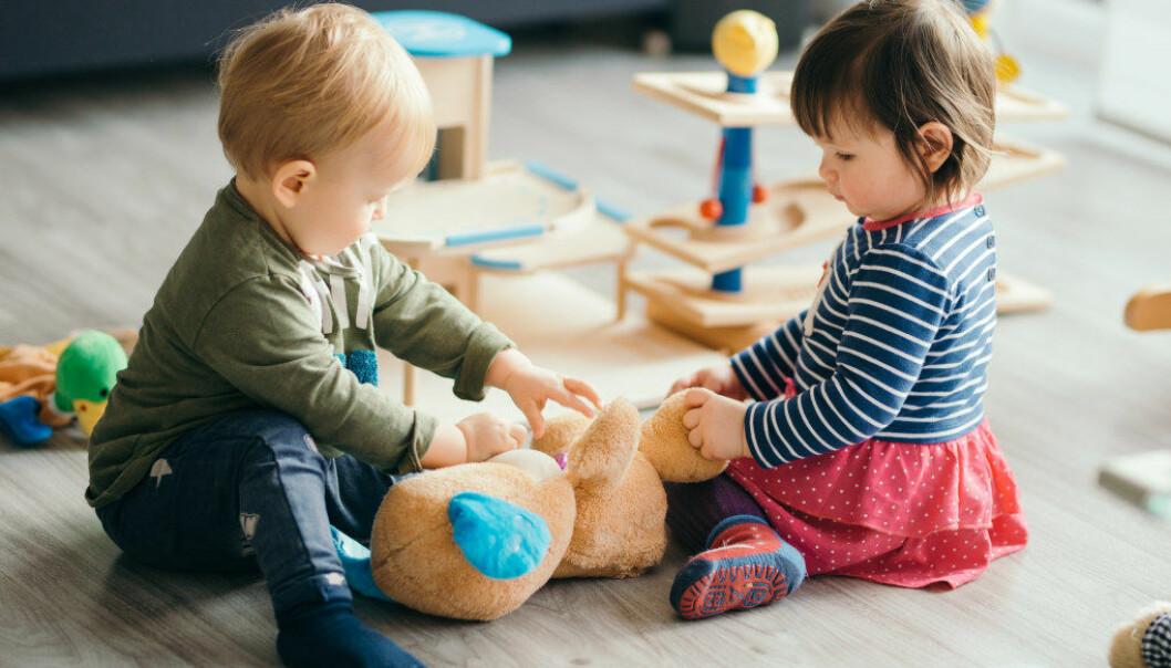 Alle nye ett- og toåringer fikk komme til Kjølstad barnehage i Fredrikstad sammen med foreldrene for å leke en time hver torsdag i tre måneder før barnehagestart.Illustrasjonsfoto: fotolia.com