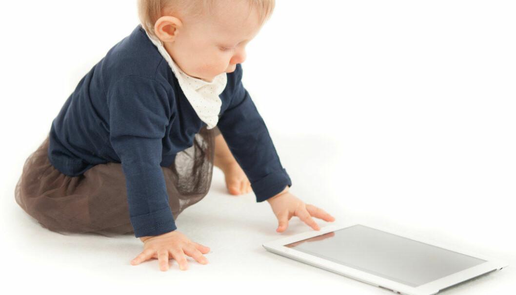 Det å se både gledene og utfordringene skjermer har med seg, har gjort at jeg tenker at digital danning må inn så tidlig som mulig i barnehagen. Illustrasjonsfoto: fotolia.com