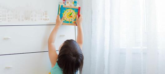 Barna får ikke tak i lekene i barnehagen