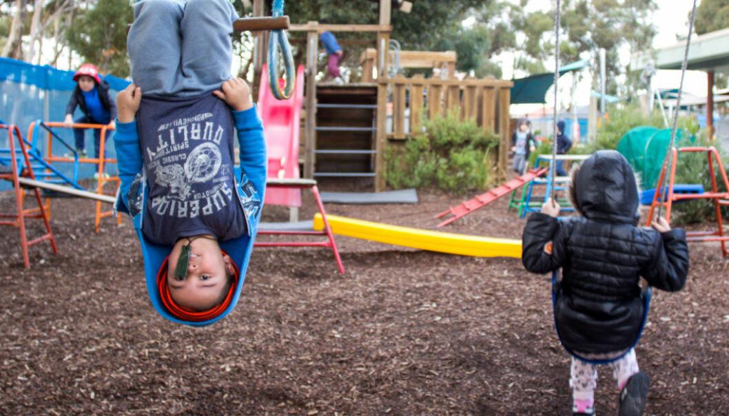 Vincet går i Jindi Worobacks barnehage, som har fått den høyeste rangeringen blant australske barnehager blant annet for sitt utdanningsprogram, fokus på urbefolkningen, service og utemiljø. Foto: Andrea Thiis-Evensen