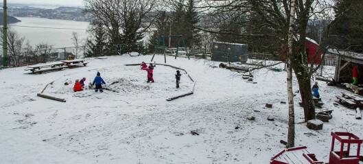 Hver dag tar barna Fløybanen til barnehagen på toppen av fjellet