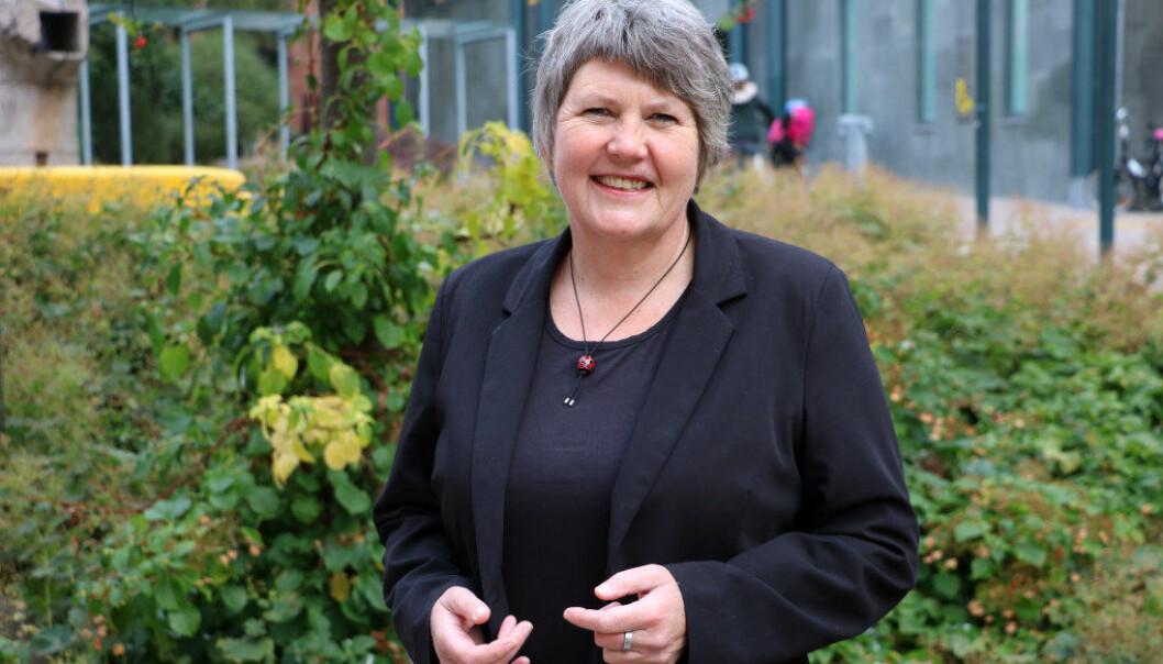 – For at reformen i barnehagelærerutdanningen skal lykkes må det gjøres noe med de 10 anbefalingene vi kommer med, sier leder Mimi Bjerkestrand i Følgegruppen for barnehagelærerutdanningen (BLU). FOTO: Line Fredheim Storvik