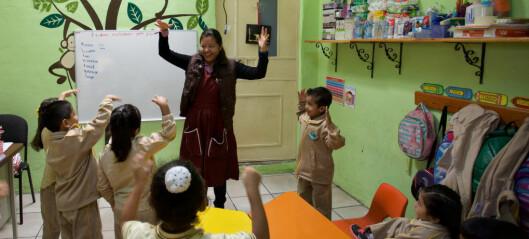 Pedagogtetthet i barnehagen: Norge er middelmådig