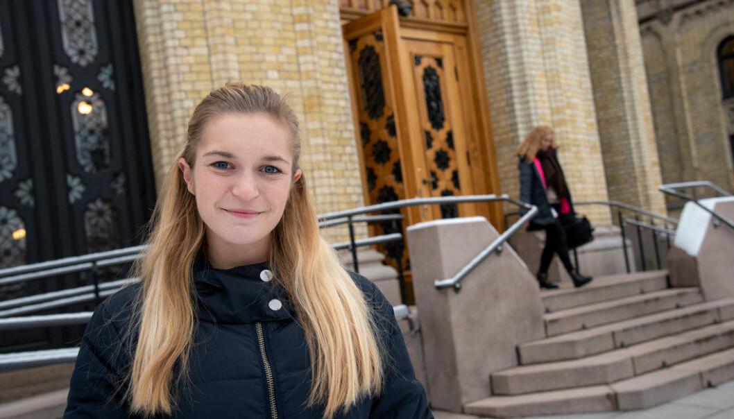 – Det virker som Ap ikke klarer å bestemme seg for hva som er viktigst å satse på i skolen, sier stortingsrepresentant Mathilde Tybring-Gjedde (H). Foto: Erik M. Sundt