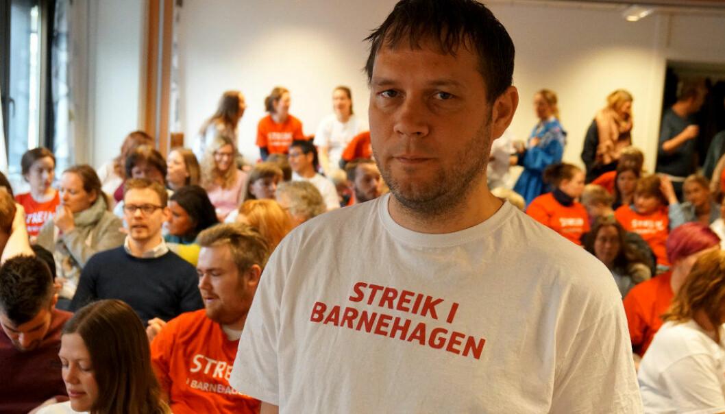 Odd Arild Viste, ansvarlig for barnehage i lokalstyret til Utdanningsforbundet i Bergen. Foto: Utdanning