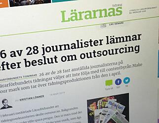 Lärarförbundet mister 26 av 28 journalister