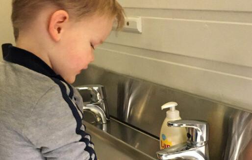 Sjekk vasken og få mindre sjukdom i barnehagen