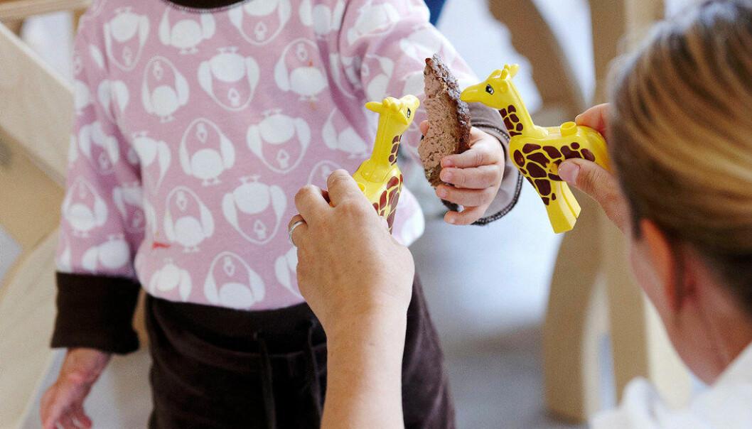 Nye tall fra Utdanningsdirektoratet viser at norske barnehager oppbemanner som et resultat av ny bemanningsnorm. Det gjelder også Gnist-barnehagene, men fortsatt har de lavere bemanning enn de største barnehagekjedene. Illustrasjonsfoto: Erik M. Sundt.
