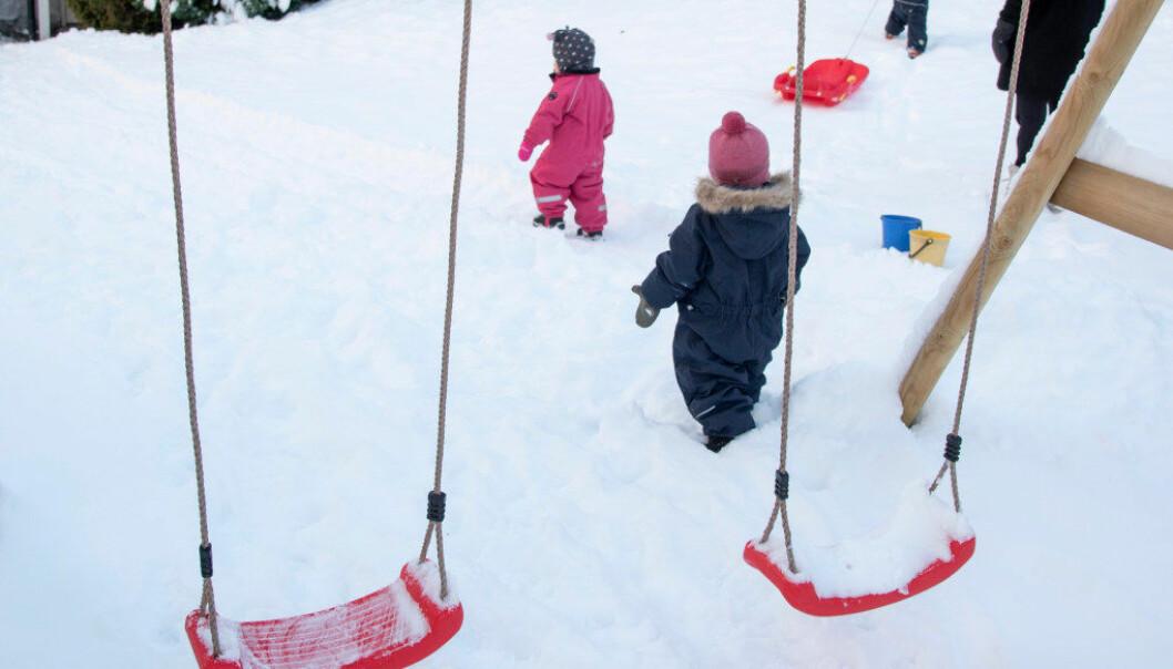 1000 flere barnehager oppfyller det nye kravet til bemanning. Foto: Erik M. Sundt