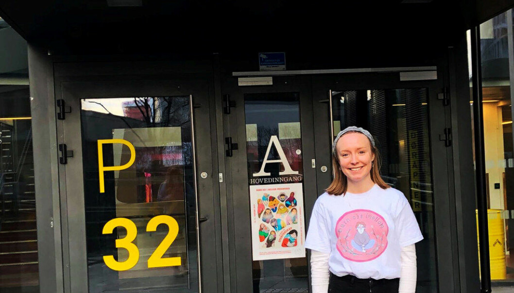 Hedda Eline Rand (22) er ikke overrasket over at lærerstudentene gir Oslo Met dårlig karakter når det kommer til organisering. Foto: Privat