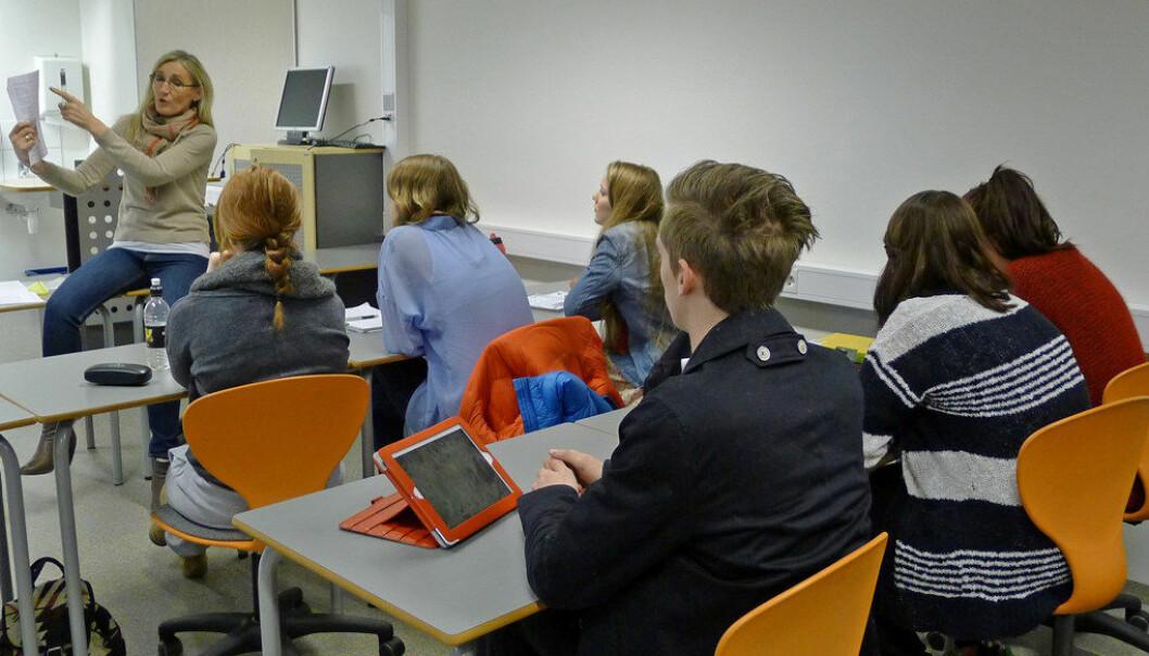 Andelen elever som går fra Vg2 til Vg3 eller ut i lære, har gått opp fra 81,7 til 86,4 prosent. Ill. foto: John Roald Pettersen