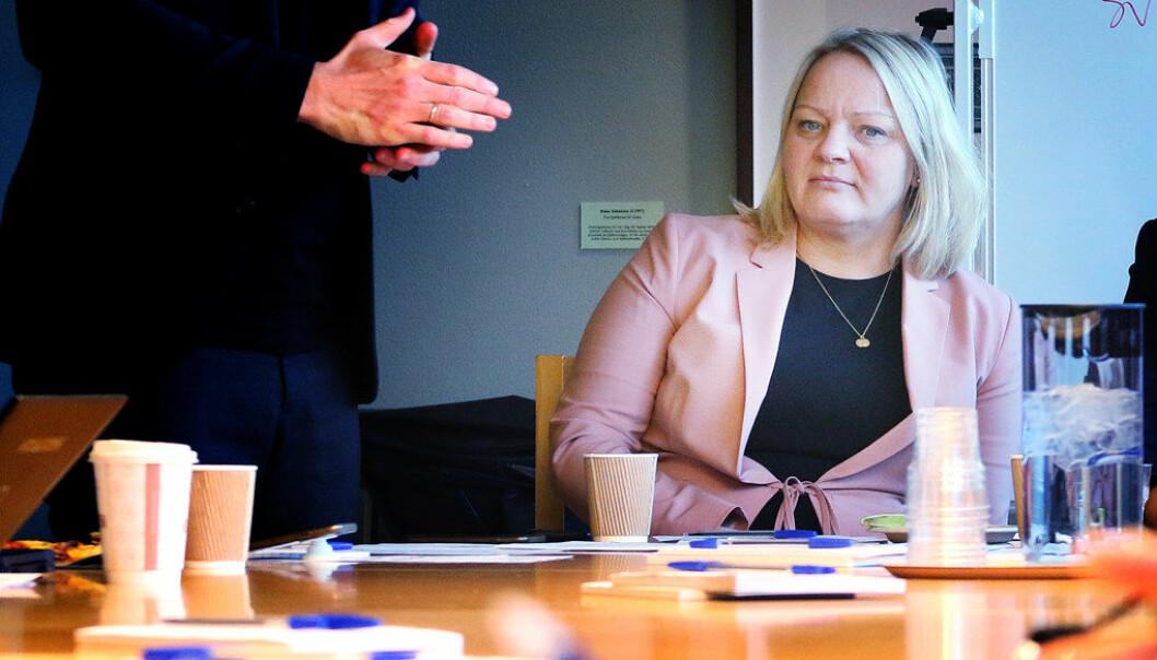 Mona Fagerås er skuffet over at ikke KrF har beveget regjeringspartiene i en annen retning i utdanningspolitikken. Foto: Jørgen Jelstad/arkivfoto
