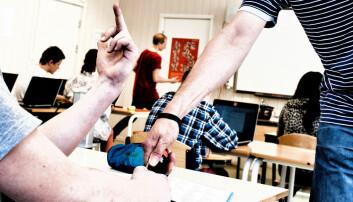 Hvem ivaretar læreren når elever truer med - og bruker vold?