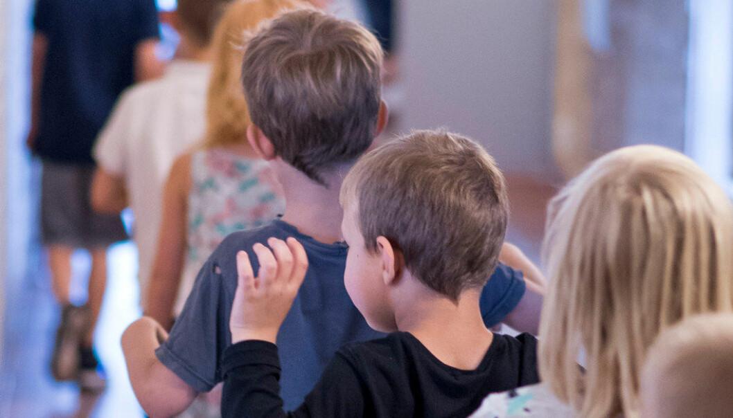 – Er det riktig at seksåringene vil få det bedre og vil barna lære mer på skolen om foreldre eller andre kan bestemme når de skal begynne på skolen etter skjønn eller testing og kartlegging i tidlig alder? Vi tror ikke det, skriver fire medlemmer av Utdanningsforbundets sentralstyre. Arkivfoto: Erik M. Sundt
