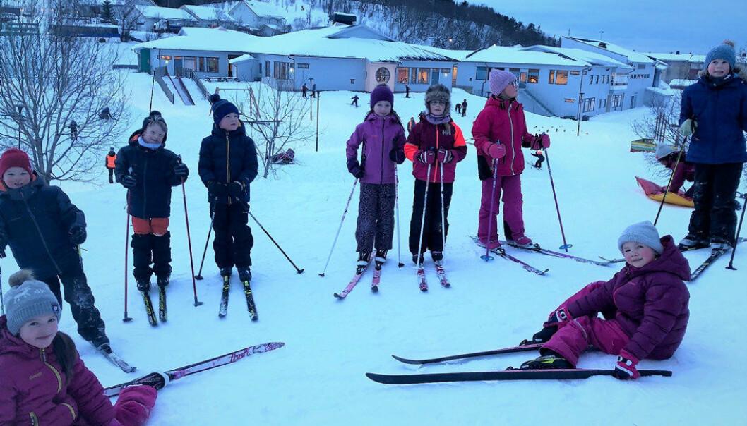 1. februar kan Grønnåsen skole i Bodø feires som helsefremmende skole nummer 100. Foto: Privat