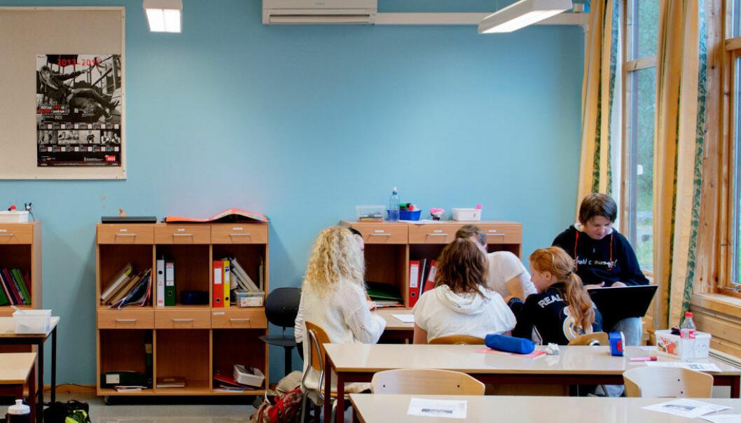 Periodisert undervising vil gje elevane færre lærarar å ta omsyn til frå veke til veke, og lærarane vil få færre elevar å ta omsyn til, meiner Roar Ulvestad. Foto: Ole Martin Wold