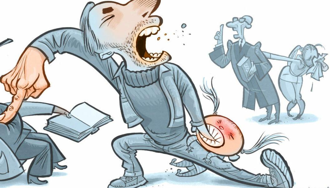 Foreldre må ansvarliggjøres for sine barns uforskammede og voldelige opptreden, skriver Reynir Grimsson. Illustrasjon: Egil Nyhus