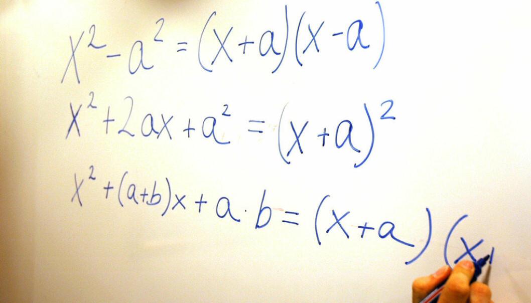 – Absurde karakterkrav fra videregående skole utelukker gode læreremner, skriver Geir Martinussen, lærerutdanner i matematikk ved Høgskolen i Oslo og Akershus. Ill.foto: Lena Opseth