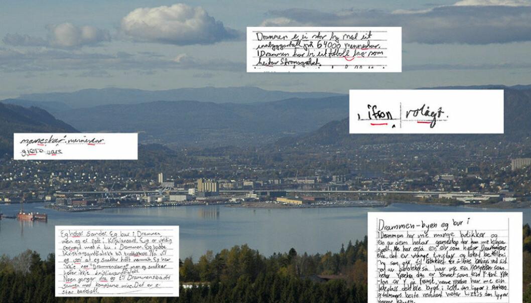 Å lære drammenselevar å skrive nynorsk er ei utfordring. Dei fleste møter det nynorske skriftspråket først som 14-åringar, og da har dei allereie blitt fortalt kor vanskeleg og forferdeleg det er å lære nynorsk, skriv forfattaren av dette innlegget. Foto: Wikimedia