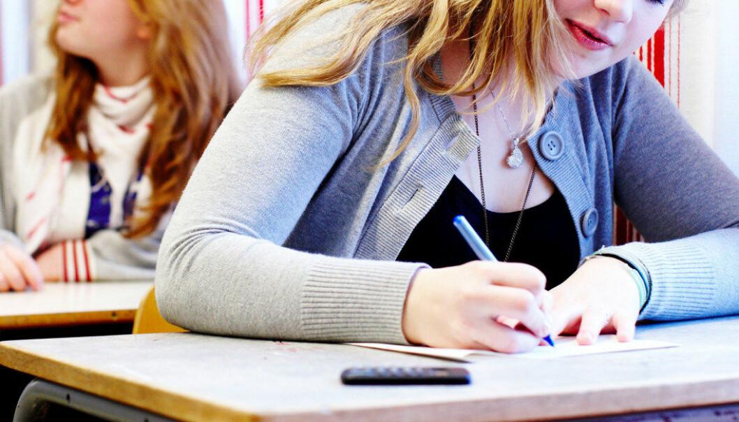 Kompetansemålene må ned. Antall varianter og muligheter for hvordan elevene skal skrive en eksamenstekst må marginaliseres, skriver forfatteren av dette innlegget. Arkivfoto: Utdanning