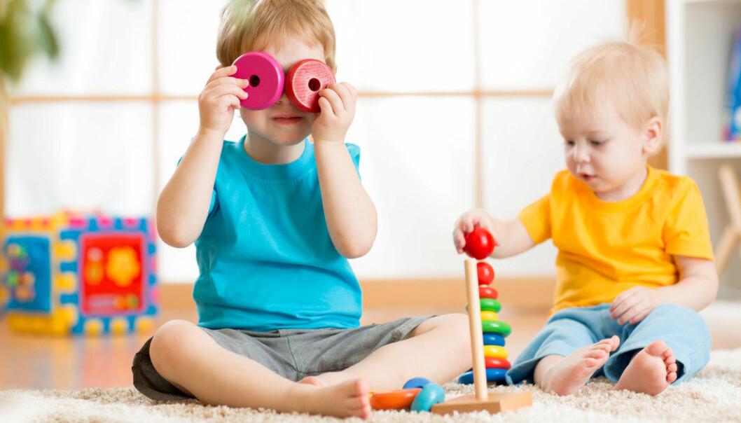 Den nye stortingsmeldingen om barnehager tyder på at lekens plass er i ferd med å svekkes i norske styringsdokumenter, skriver artikkelforfatteren. Foto: Fotolia.com