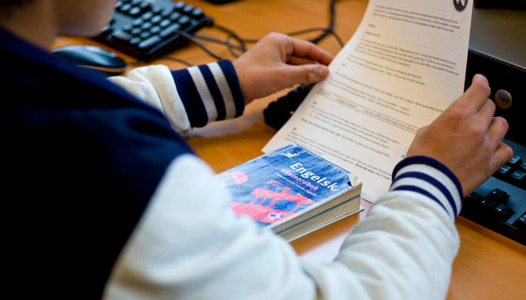 I engelsk presterer guttene og jentene mer jevnt enn i matematikk og lesing. Ill.foto: Erik M. Sundt