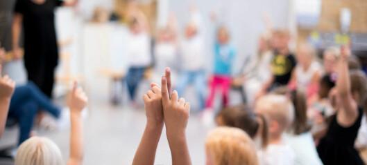 Lærerundersøkelse: – Skoledagen for de minste er for teoretisk