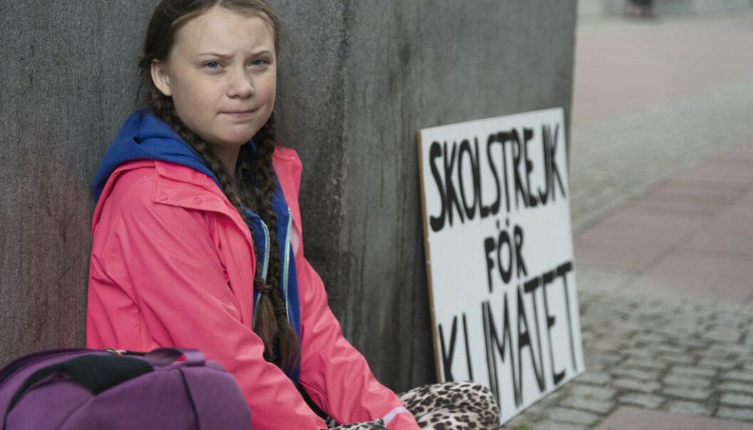 I morgen, fredag, streiker norsk ungdom tilstøtte for svenske Greta Thunberg (15). Foto: Aftonbladet / NTB scanpix