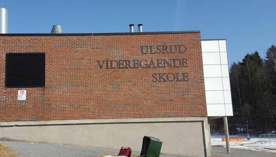 I forrige uke var det et to timer langt personalmøte på Ulsrud vgs etter at lektor ved skolen, Simon Malkenes, hadde snakket om en klassetime på DAganytt 18 på NRK. Foto: Marianne Ruud