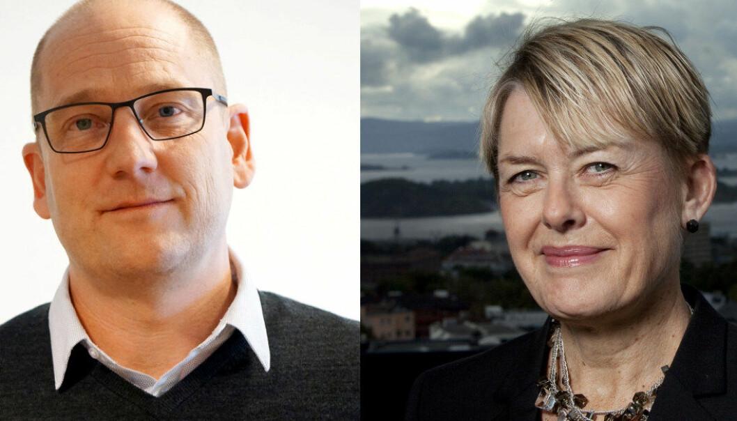 Steffen Handal og Astrid Søgnen møtes til debatt i Dagsnytt 18 i dag. Arkivfoto: Utdanning