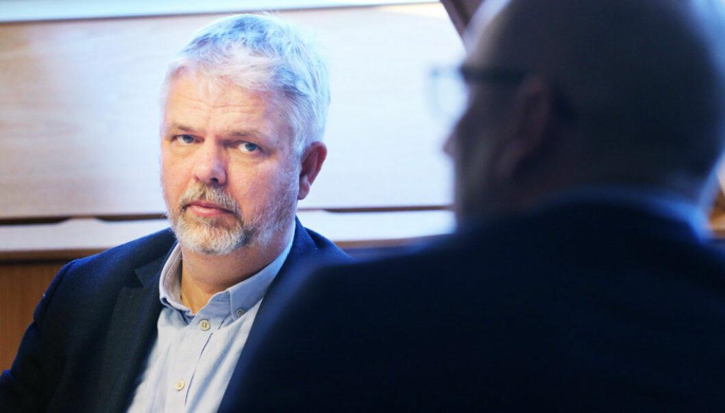 – Vi er også bekymret for at vi har en stor andel ufaglærte i skolen, men den andelen har vi hatt lenge, sier Erling Lien Barlindhaug, avdelingsdirektør for Utdanning i KS. Foto: Jørgen Jelstad.