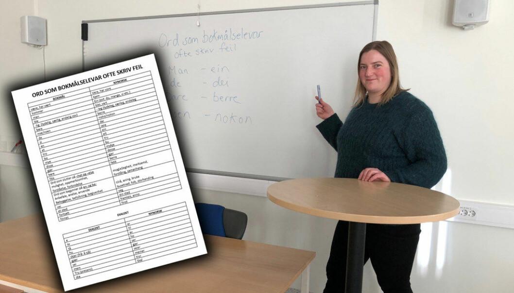 cb996ede Jeg merker at elevene blir mer motivert til å jobbe med tekstene. Lista har
