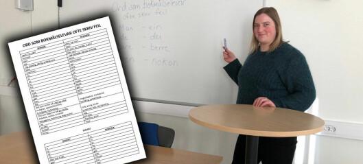 Her er lista som hjelper deg å bli kvitt de vanligste feilene på nynorsk