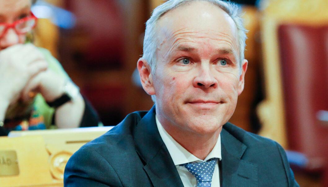 Kunnskapsminister Jan Tore Sanner (H) åpner for et yrkesforbud for overgrepsdømte i videregående skole. Foto: Heiko Junge / NTB scanpix