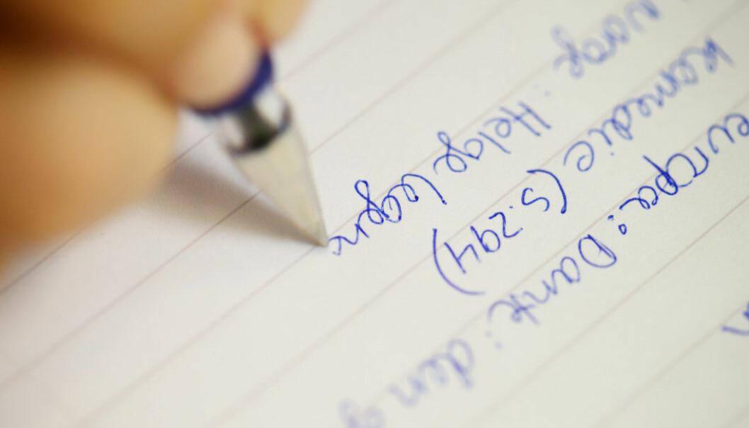 Av hensyn til egen læring bør studenter bruke penn og papir og ikke pc når de skriver notater. Arkivfoto: Utdanning