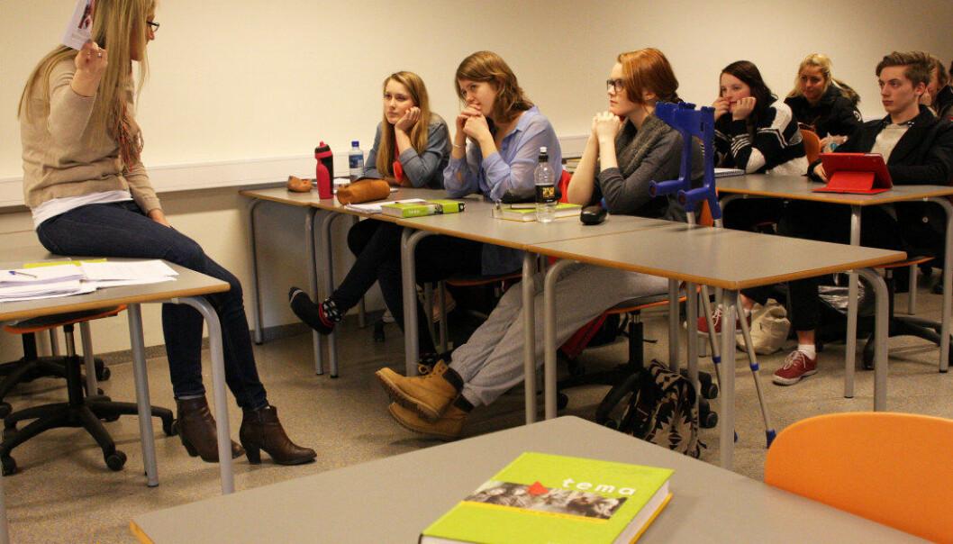 Norskfaget skal ifølge læreplanen bidra til blant annet kulturforståelse, identitetsutvikling og dannelse.  Ill. foto John Roald Pettersen