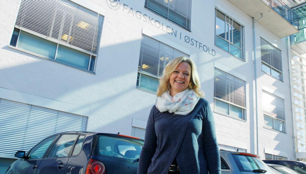 Utdanningsleder for helse- og oppvekstfag ved Fagskolen i Østfold, Gry Ulvedalen, fikk god respons da de valgte å legge studiet «Barn med særskilte behov» til kveldstid. Foto: Tore Kubberød