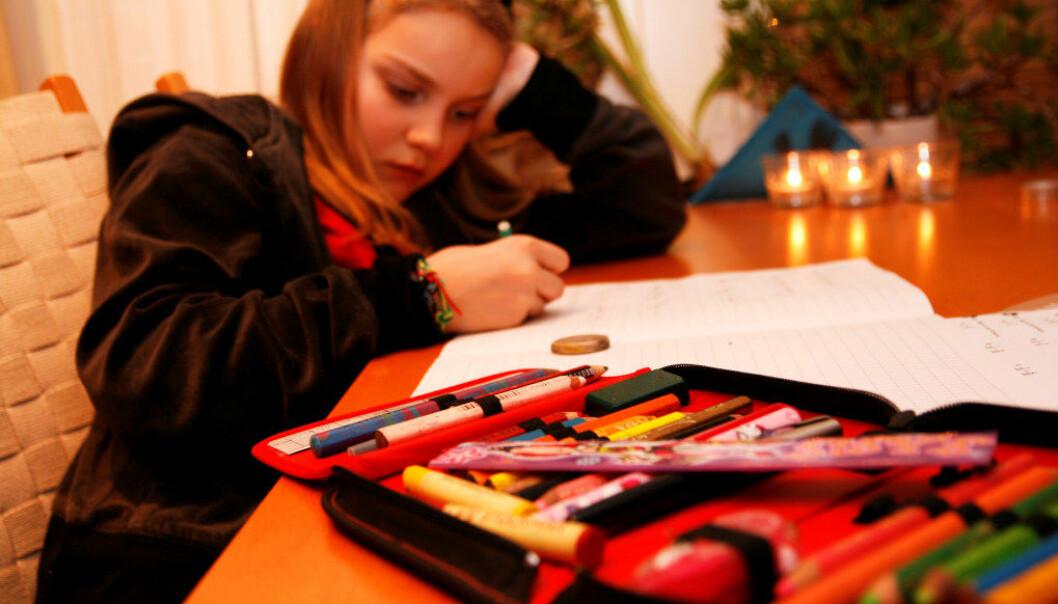 Lærerstudenter savner undervisning om lekser i utdanningen. Arkivfoto: Inger Stenvoll