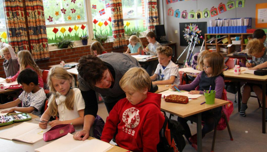 I løpet av de ti første minuttene en lærer har en klasse, er det avgjørende å vise elevene at du er vennlig, interessert i dem og villig til og i stand til å ta styringen i klassen, er rådet fra den nederlandske professoren Theo Wubbels. Arkivfoto: Marianne Ruud