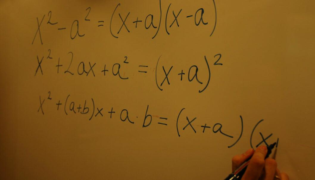 Hver tredje lærer som underviser i matematikk, mangler fortsatt tilstrekkelig fordypning i faget, ifølge Utdanningsdirektoratet. Ill. foto: Lena Opseth