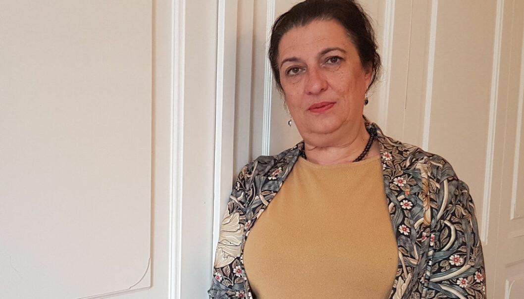 Oslo-ambassadør Anna Mária Sikó er uroleg for framtida til den ungarsk-språklege minoriteten i nabolandet Ukraina. Foto: Harald F. Wollebæk