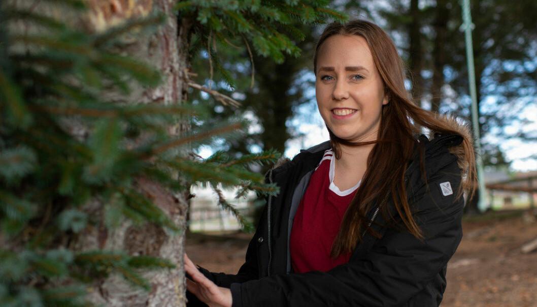 Marte Solheim Helseth ville ikke flytte hjemmefra som 17-åring, men måtte for å få utbytte av undervisningen. Foto: Kjell Langemyren