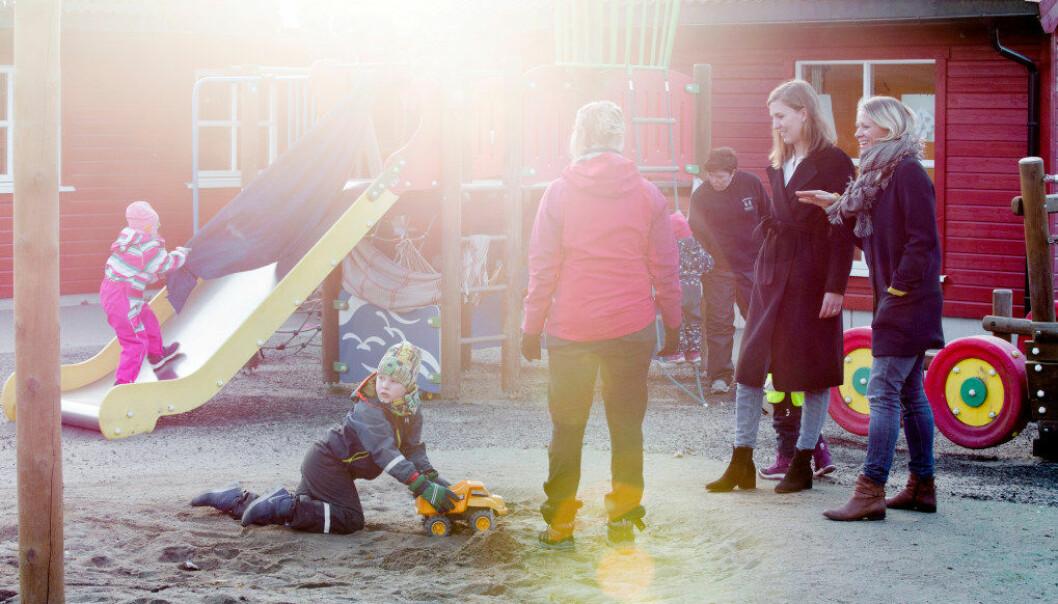 Både barnehagestyreren og foreldrestyret i Smedhusåsen barnehage er usikre på om foreldreundersøkelsen alltid gir svar som rimer godt med virkeligheten. Foto: Tom-Egil Jensen