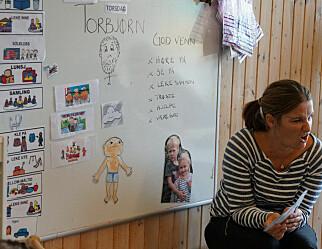 Barna i denne barnehagen lærer seg flere ord i språksamlingen