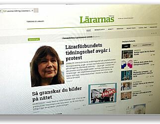 Sjef for svenske skoleblader går av i protest